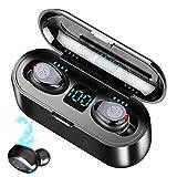 BOBO-Y Audífonos Bluetooth Inalámbricos, Control Táctil y LED Pantalla, Bluetooth 5.0 Auriculares Deportivos IPX7 Impermeable para iPhone Sony Samsung Huawei LG.