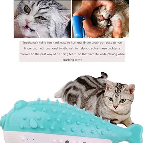 nobrand Cat Toy cat Toothbrush is Resistant to Gnawing, Cleaning Teeth and Grinding Teeth. Mint Simulation Fish Toy
