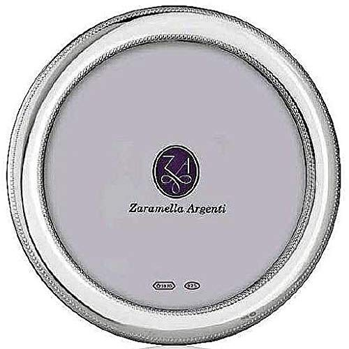 MONTE CARLO Round fine Sterling Silver beaded frame by Zaramella Argenti® - 7x7