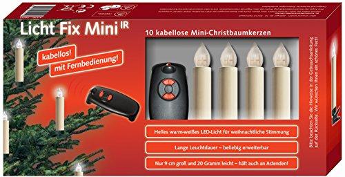 NIKO Licht Fix Mini kabellose LED-Christbaumkerzen mit Fernbedienung (74017)