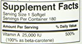 FoodScience of Vermont Superior A Beta Carotene Daily Supplement 25000 IU Soft Gels 180 Count Discount