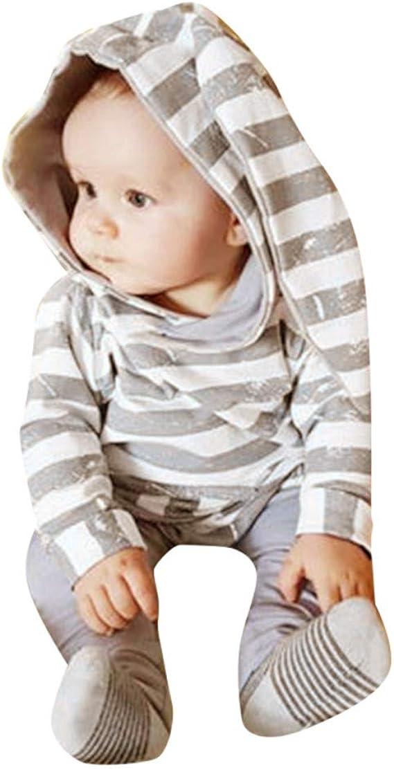 Hirolan Bekleidungssets Overall S/äugling 6-24 Monate Baby Junge M/ädchen Hirsch Punkt Langarm Rotwild Mit Kapuze 3D Ohr Spielanzug Romper Jumpsuit Strampler