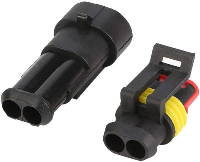 Lecimo Set di Connettori per Cavi Automobilistici A Tenuta Stagna Impermeabile Sigillato A 2 Pin 2#