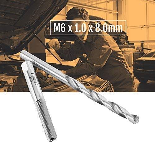 25pcs M6 /¡/Á 1.0 /¡/Á 8.0mm Thread//thread repair kit Helicoil Hand tool kit compatible with HSS threads!