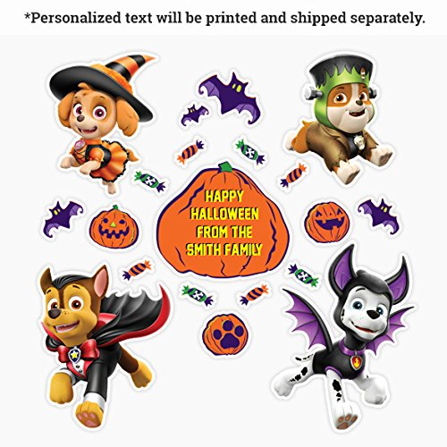 Oliver's Labels Paw Patrol Halloween Wall Decals Peel and Stick Removable Reusable -