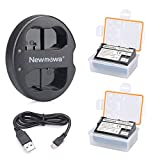 Newmowa EN-EL15 Replacement Battery (2 pack) and Dual USB Charger for Nikon EN-EL15 and Nikon 1 V1, D600, D610, D800, D800E, D810, D7000, D7100,D7200