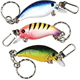 Dozen Assorted Design Fishing Lure Keychain Rings – 3″ For Sale