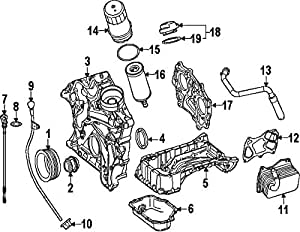 Amazon.com: Mercedes-Benz 276 010 65 07, Engine Oil Pan ...