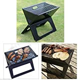 SJ Shop Outdoor BBQ Grill Smokeless Charcoal Folding Garden Party Camping Tool Portable
