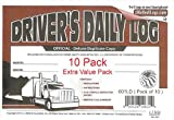 J.J. Keller 8525 (601LD) Deluxe Drivers Daily Log Book with Detailed DVIR, Pack of 10