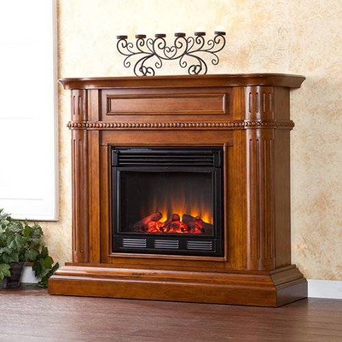 SEI AMZ6769E Brantley Electric Fireplace, Walnut