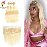 Fabeauty 613 Blonde Human Hair Bundles with Frontal Brazilian Straight with Frontal 100%