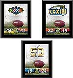 """Denver Broncos 10.5"""" x 13"""" Sublimated Super Bowl Champion Plaque Bundle - NFL Team Plaques and Collages"""