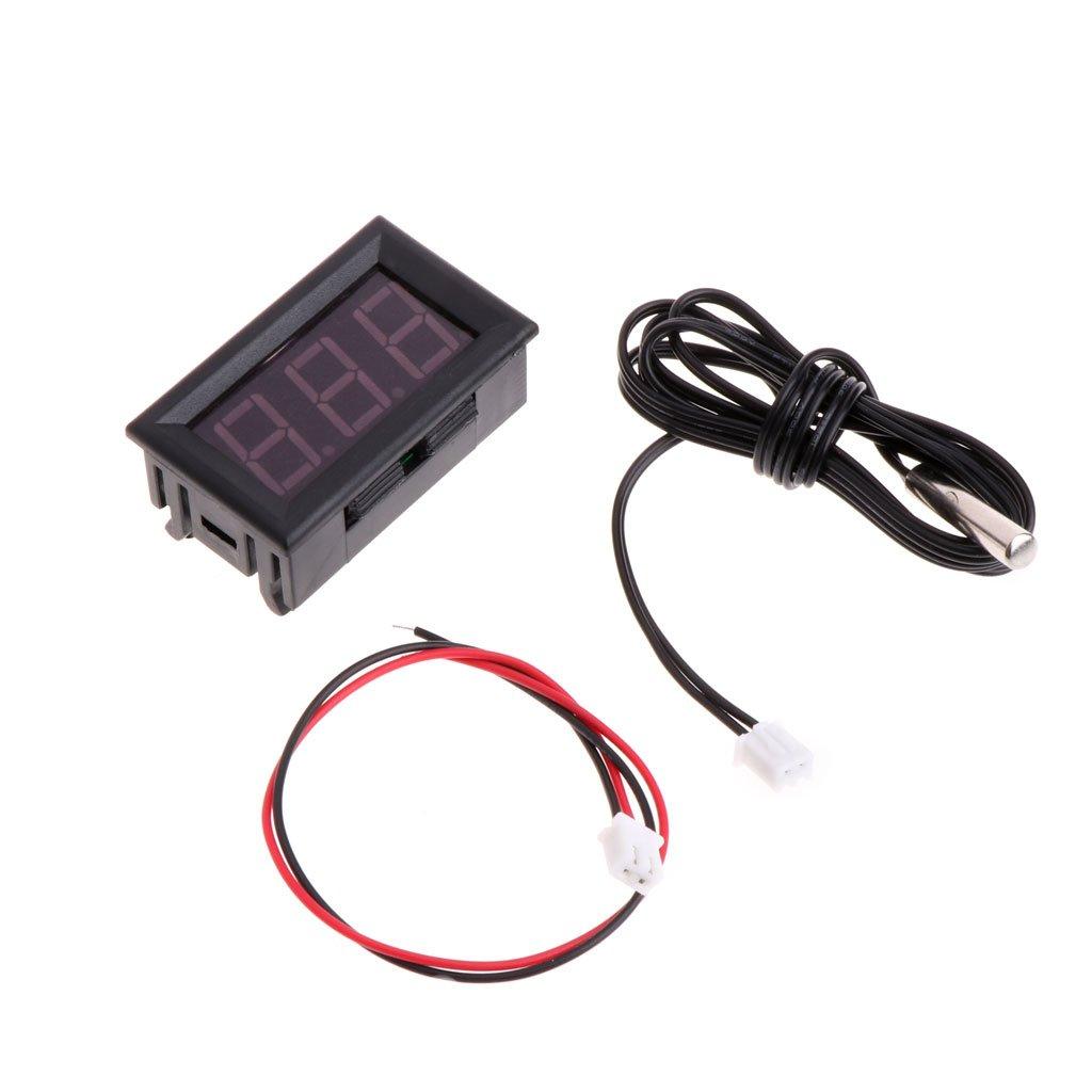 zrshygs Term/ómetro casero 50~110 /° C Term/ómetro LED Digital DC 5-12V Panel de Temperatura Indicador del Panel del Coche