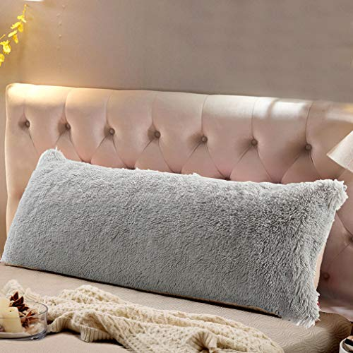 Reafort Luxury Long Hair PV Fur Body Pillow Cover/Case 21