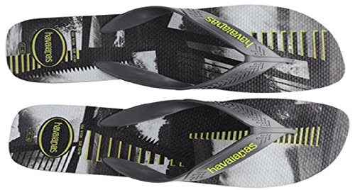 Havaianas Grau/Schwarz Surf größe EU39/40 zehentrenners Steel Grey