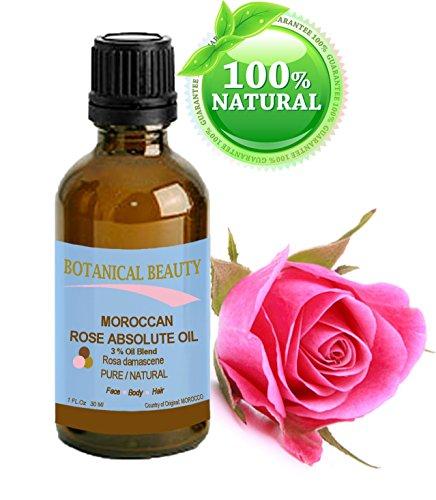 MOROCCAN ROSE ABSOLUTE Pure / Natural 3% Oil Blend. 1fl oz - 30ml.