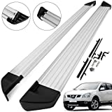 Mophorn Aluminium Side Running Boards Bars Steps + Fitting Kit for Ni-ss-an Qa-shqai 2007-2013