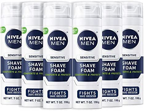 Shaving Creams & Gels: Nivea Men Sensitive Shaving Foam
