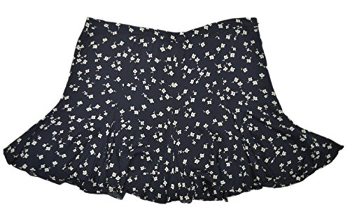 Polo Ralph Lauren Women's Printed Silk Ruffled Mini A-Line Skirt Navy 12