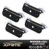 Xprite Light Holder Adjustable Bracket For 4 LED 4 Watt Emergency Vehicle Waterproof Surface Mount Deck Dash Grille Strobe Light Warning Police Light Head - 4 Pack