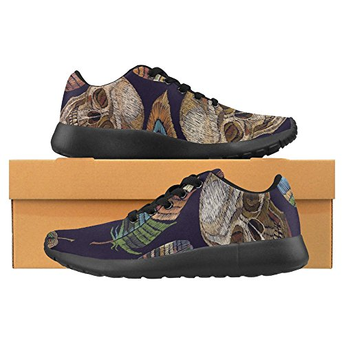 Color Multi and Indian Lightweight Feathers Casual Womens Sneaker Running Skull Shoes Jogging Go Easy Running 1 Comfort InterestPrint Walking xB7wF