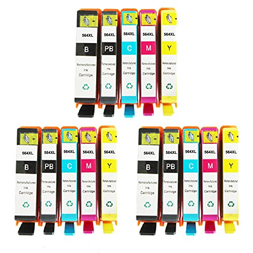 HOTCOLOR 15 PK Compatible Ink Cartridge Replacement for H...