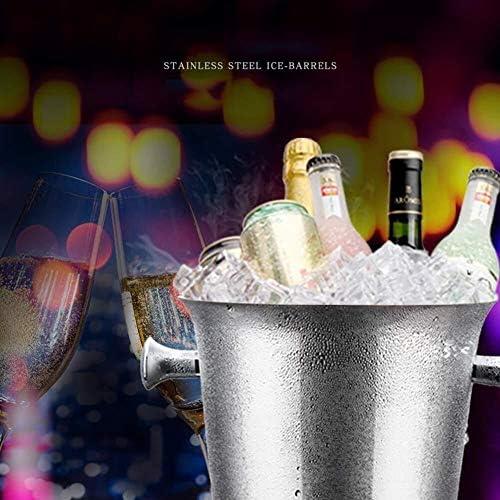シャンパン バケツ、真空断熱 ステンレス アイスペール ワインクーラー ポータブル 飲み物 クーラー アイスワイン 容器 キャリーハンドル パーティー バー (Size : 3l-16x16cm(6x6inch))