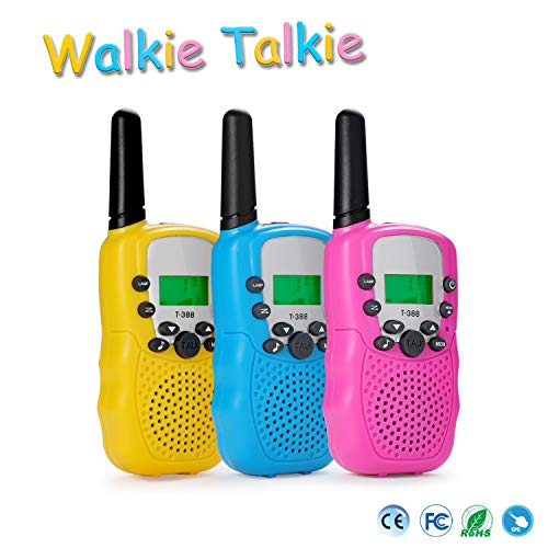wdgguang Toys for 3 4 5 6 12 Year Old Boys Girls,3 4 5 6 12 Year Old Girl Boy Birthday Gifts,Walkie Talkies for Kids with 22 Channels 2 Way Radio(3 Pack)