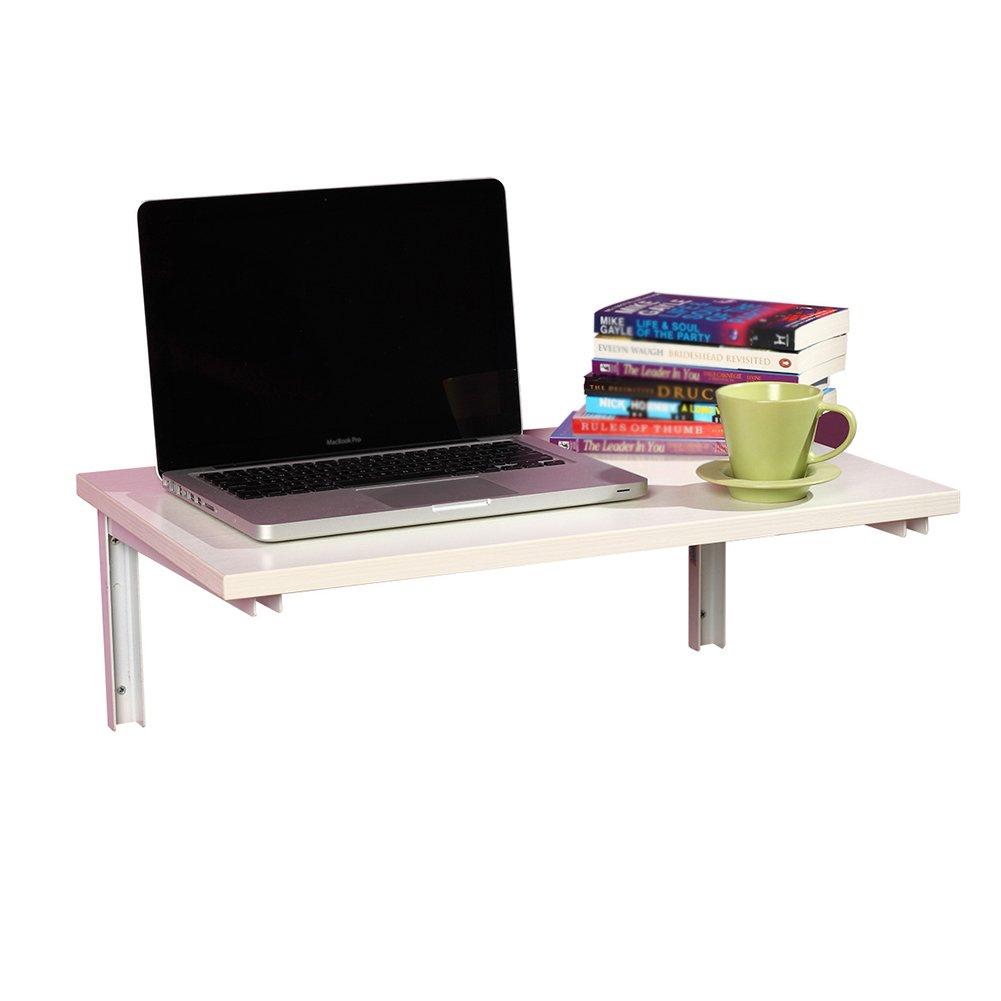 WNX Wand-Klapptisch Esstisch Wohnzimmer Computer Schreibtisch Kind Arbeitstisch Hängeleuchte Tisch Gegen die Wand Schreibtisch (Farbe : Weiß, größe : 80  50cm)