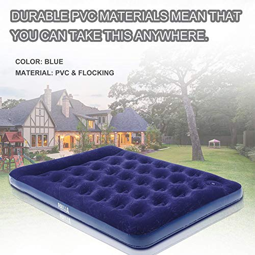 Ensteinberge Bestway Double People Air Bed Inflatable Mattress Comfortable Sleeping Mats with Air Pump Flocking Ventilate Camping Pad