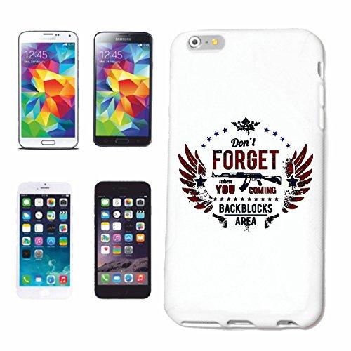 """cas de téléphone iPhone 6S """"NE PAS OUBLIER RETOUR BLOCS AREA MACHINE GUN SHOT GUN KALASHNIKOV PAIX SAGITTAIRE"""" Hard Case Cover Téléphone Covers Smart Cover pour Apple iPhone en blanc"""