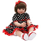 Love Bella Lifelike Toddler Princess Girl Doll Beautiful Realistic Reborn Baby 23-inch Soft Weighted Cuddle Doll, for Ages 3+