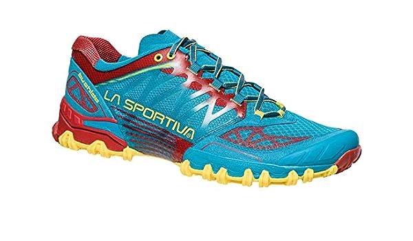 La Sportiva Bushido, Zapatillas de Trail Running para Hombre, Multicolor (Tropic Blue/Cardinal Red 000), 41 EU: Amazon.es: Zapatos y complementos