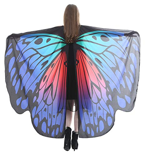 Dancing Party Costume Top Lovely Butterfly Wings Shawl Fairy Pixie Outfit Halloween Christmas Costume Accessory ()