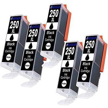 Amazon.com: inktoner 5 grande negro PGI-250 PGBK el nuevo ...