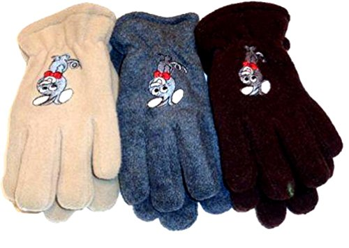 Three Pairs Fleece and Microfiber Gloves for Children Ages 2-5 Years by Gita