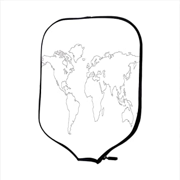 world map outline black and white