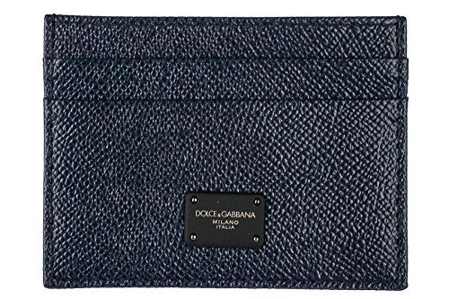 Dolce&Gabbana men's genuine leather credit card case holder wallet - Mens Dolce Gabbana Wallet