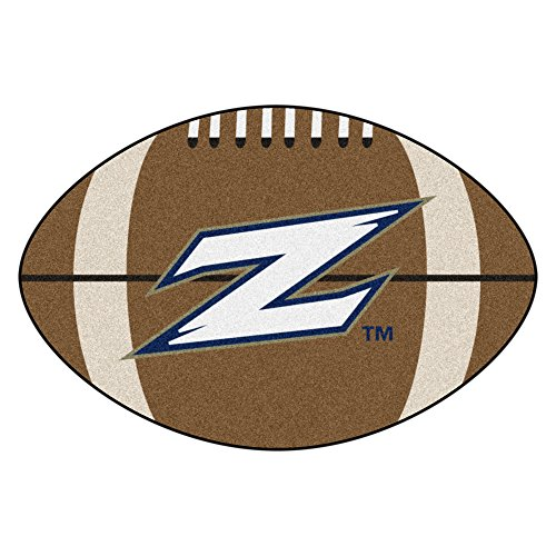 (NCAA University of Akron Zips Football Shaped Mat Area Rug)