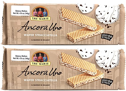 Filled Wafers Cream Chocolate (Tre Marie Vanilla Milk Cream With Extra Dark Chocolate Chip Filled Wafer Cookies 4.9 Ounce (2-pack))