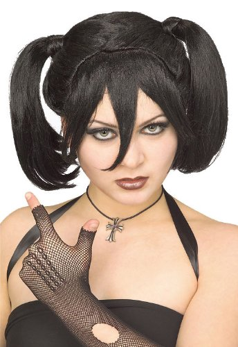 [Rubie's Costume Gothic Teen Wig, Black, One Size] (Punk Fairy Costumes)