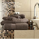 Egyptian Cotton Bath Sheet 700gsm Luxury Extra Large Thick Bathroom Towels Super Soft Combed Highly Absorbent Towels 90 x 140 Cm , Camel by De Lavish