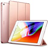 ESR Yippee Trifold Smart Case for iPad 9.7 2018/2017, Lightweight Smart Cover with Auto Sleep/Wake, Microfiber Lining, Hard Back Cover for iPad 9.7 iPad 5th / 6th Generation, Rose Gold