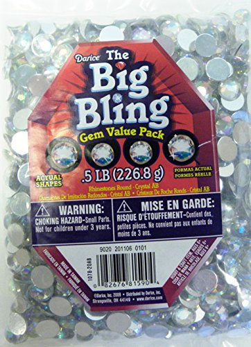 Bag Bling (Darice Big Bling Gem Value Pack, Crystal AB)