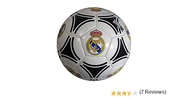 Balón Futbol Oficial REAL MADRID Circulos Negro: Amazon.es ...