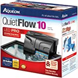 Aqueon Quietflow LED Pro Aquarium Power Filters, Size 10-100Gph
