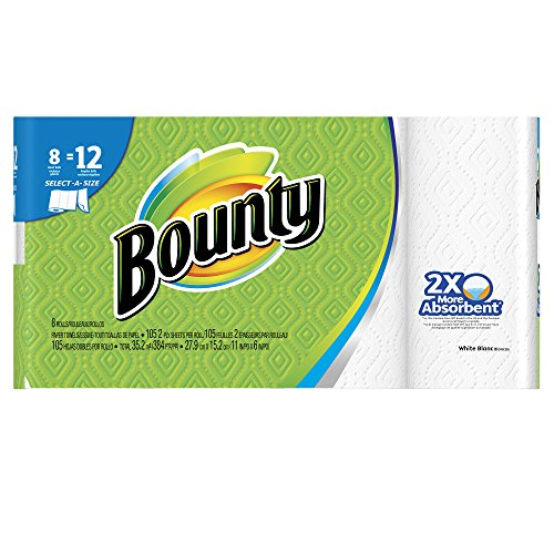 Bounty Select-A-Size Paper Towels, White, 8 Giant Rolls