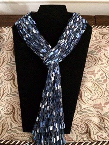 weight Lariat Strands Trellis Blue Silver ()