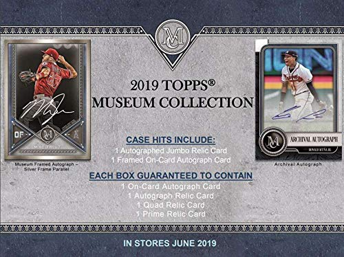 2019 Topps Museum Collection Baseball Hobby Box (4 Packs/5 Cards: 4 Hits)